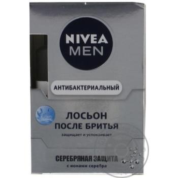 Лосьон Nivea Men Серебряная защита антибактериальный после бритья 100мл - купить, цены на Метро - фото 3
