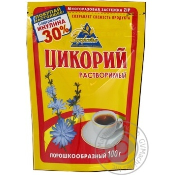Напиток Здоровье Цикорий растворимый порошкообразный вакуумная упаковка 100г Россия