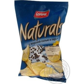 Чіпси Лоренц Нетчерелс картопляні з морською сіллю і перцем 110г Німеччина - купити, ціни на Novus - фото 5