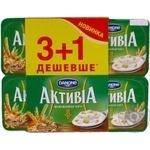 Бифидойогурт Данон Активиа Отруби-Злаки 2.2% пластиковый стакан 4х115г Украина