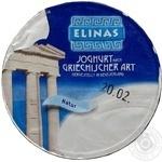 Йогурт Элинас Греческий натуральный 9.4% 150г пластиковый стакан Германия