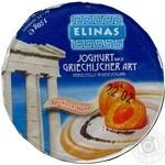 Йогурт Элинас Греческий с абрикосом и маком 9.4% 150г пластиковый стакан Германия