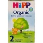Суміш молочна ХіПП Органік 2 суха для подальшого годування для дітей з 6 місяців 300г Німеччина