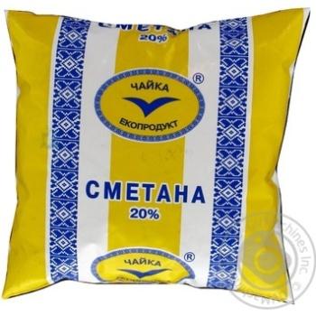 Сметана Чайка 20% 500г плівка Україна