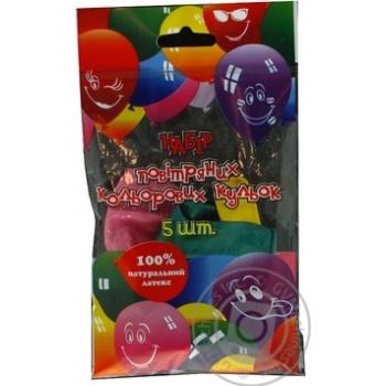 Кулі повітряні Все для свята Party Favors перламутр 5шт 61220/5 - купить, цены на Novus - фото 1