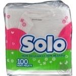 Салфетки  Solo Супер 1-слойные 100шт/уп