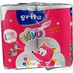Папір туалетний Grite Vivo деко 4шт