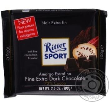 Шоколад Ritter Sport экстрачерный 73% 100г