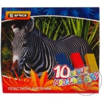Пластилин Economix Afrika 10 цветов 200г - купить, цены на Novus - фото 8