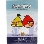 Картон кольоровий 10арк.А4 Cool for School Angry Birds AB03200