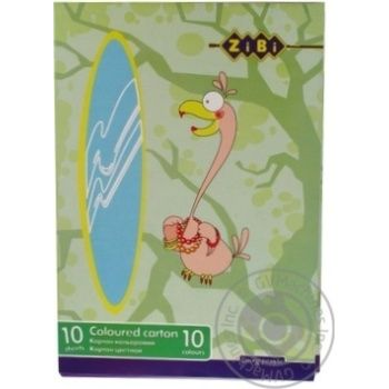 Zibi Cardboard colored A4 10 colors 10 sheets - buy, prices for CityMarket - photo 4