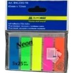 Закладки Buromax Neon пластиковые в ассортименте