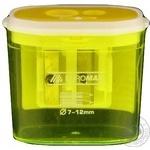 Точилка Buromax контейнер пластиковая 2 отверстия - купить, цены на Novus - фото 2