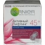 Крем нічний проти зморшок Garnier Skin Naturals Активний Ліфтинг від 45років 50мл