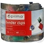 Біндер Optima неонові кольори 15мм в пластиковій драмі 41064 60шт