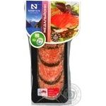 Medallion atlantic salmon Norven with basil light-salted 120g vacuum packing Ukraine