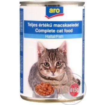 Корм Aro консервированный с рыбой для котов 415г - купить, цены на Метро - фото 1