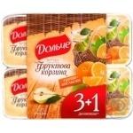 Йогурт Дольче Фруктовая Корзина Груша-Апельсин 3.2% 4х120г пластиковый стакан Украина