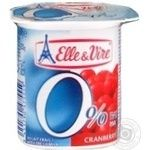 Elle&Vire With Cranberry Milky Dessert 0% 125g