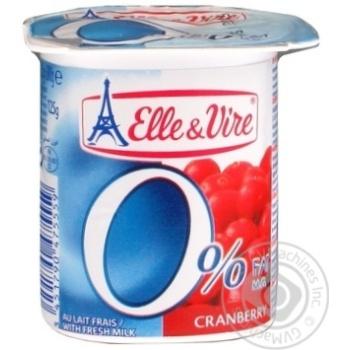 Десерт молочный Эль Вир Клюква 0% 125г