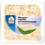 Продукт сирний кисломолочний Файн Фуд 9% 450г Україна