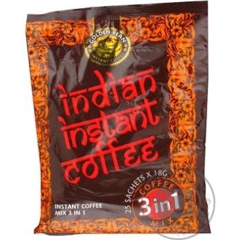 Напиток Индиан инстант кофи с кофе растворимый 25шт 450г в стиках