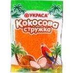 Shavings Ukrasa coconut orange for desserts 25g Ukraine