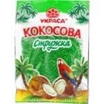 Shavings Ukrasa coconut green for desserts 25g