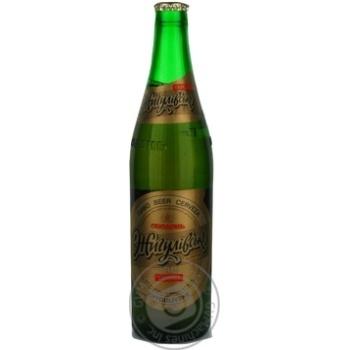 Пиво Оболонь Жигулевское Экспортное светлое 4.7%об. стеклянная бутылка 500мл Украина