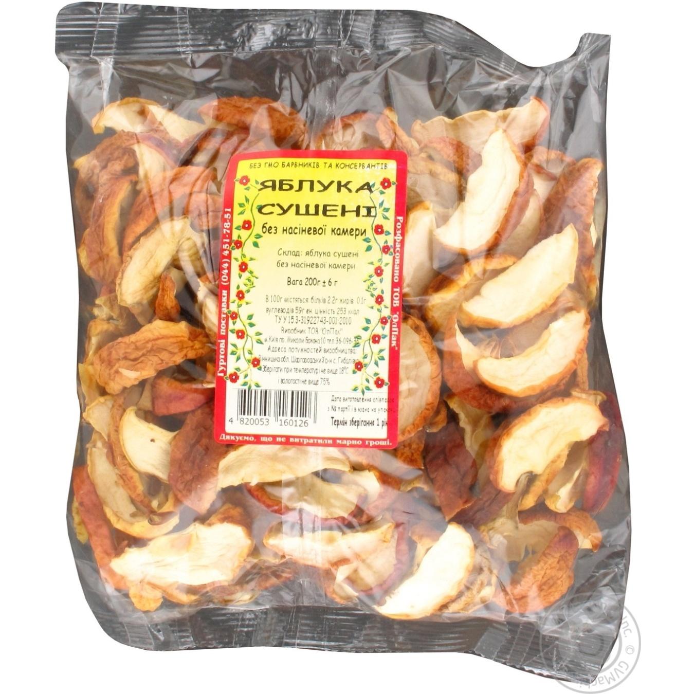Купить 422, Яблоки сушеные 200г, Олпак