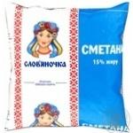 Сметана Славяночка 15% пленка 405г Украина