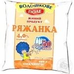 Fermented baked milk Voloshkove pole 4% 450g