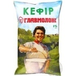 Pasteurized kefir Glavmoloko Selyanskiy 1% 870g sachet Ukraine