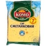 Сыр Комо Сметанковый твердый 7 ломтиков 50% 240г Украина