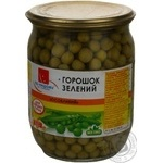 Vegetables pea Po-nashomu green pea 510g glass jar Ukraine