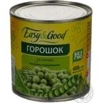 Vegetables pea Easy and good green canned 400g can Hungary