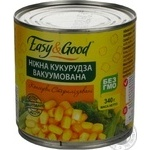 Vegetables corn Easy and good canned 340g can Russia