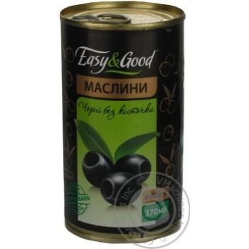 оливка Изи енд гуд черное консервированная 370мл железная банка Украина