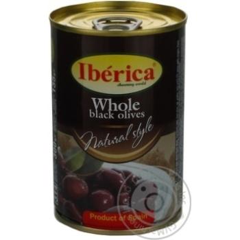 Маслини Iberica Оригінальні з кісточкою з/б 300г х24