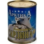 Fish sardines Arktika №9 in oil 365g can Ukraine