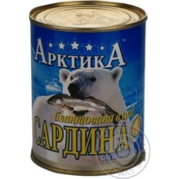 Рыба сардина Арктика №9 консервированная 365г железная банка Украина