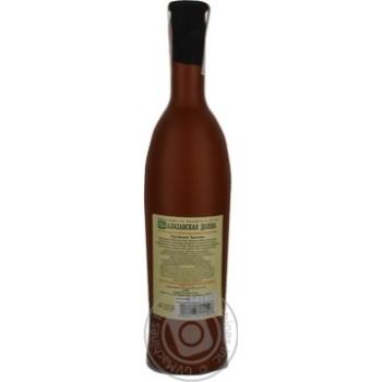 Вино белое Грузинское Застолье Алазанская Долина натуральное природно-полусладкое 12% 750мл - купить, цены на Novus - фото 2