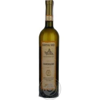 Вино белое Картули Вази Алазанская Долина натуральное виноградное высококачественное полусладкое 10.5% 750мл - купить, цены на Novus - фото 4
