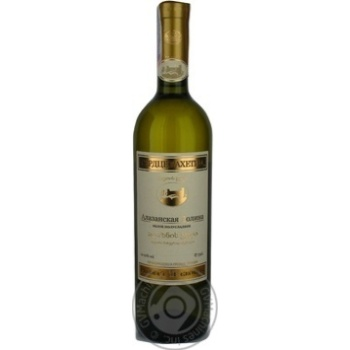Вино белое Сердце Кахетии Алазанская Долина виноградное полусладкое 12% стеклянная бутылка 750мл Грузия - купить, цены на Novus - фото 1