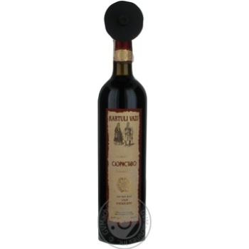 Вино Kartuli Vazi Саэриставо красное сухое 12% 0,75л - купить, цены на СитиМаркет - фото 1