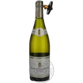 Вино шардонe Олівъє трикон белое сухие 13% 750мл стеклянная бутылка Шабли Франция