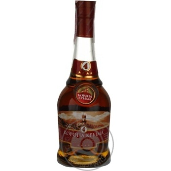 Cognac Korona kryma 40% 500ml glass bottle Ukraine