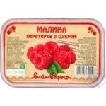 Vushivanka Frozen With Sugar Mashed Raspberry 250g