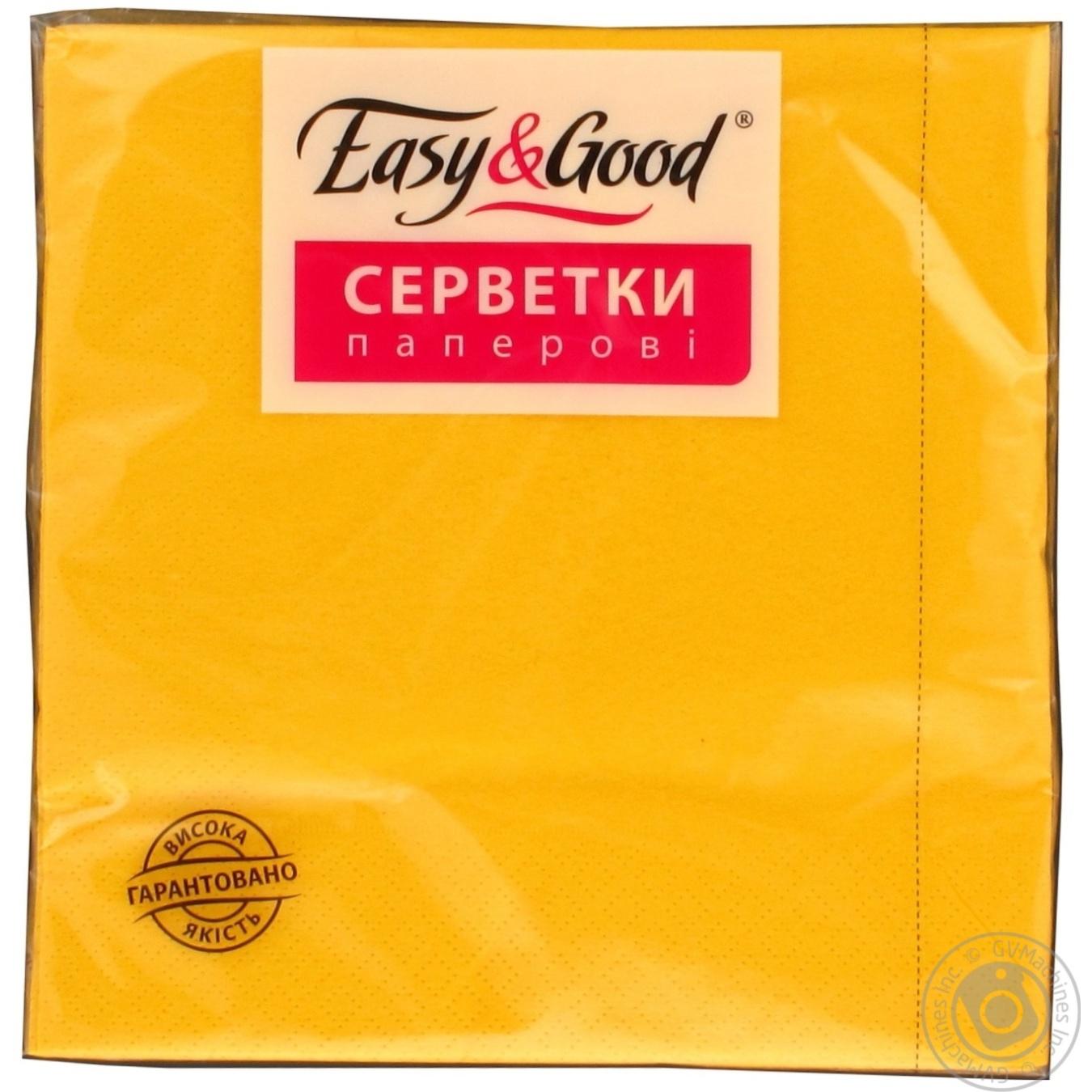 Серветка Ізі енд гуд жовта паперова 20шт Україна → Для дому ... d9dde0cc2d92c