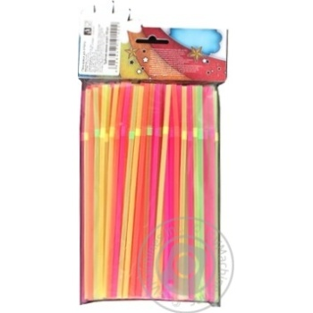 Party House Neon Assorted Straws 100pcs - buy, prices for CityMarket - photo 2